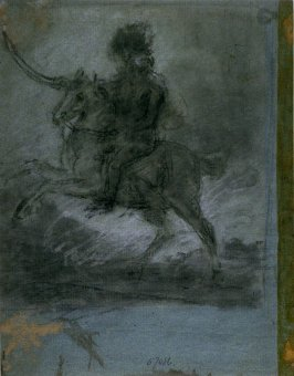 Recto: Soldier on a Rearing Horse (possibly Colonel Banastre Tarlton)Verso: Soldier on Rearing Horse