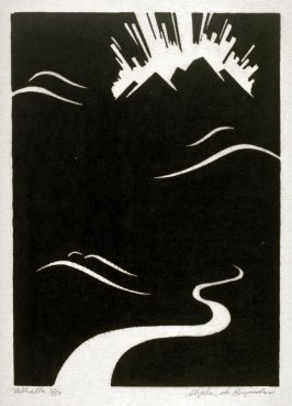Ring of the Nibelung 10 woodcuts: Valhalla