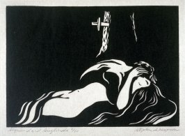 Ring of the Nibelung 10 woodcuts: Siegmund and Sieglinda