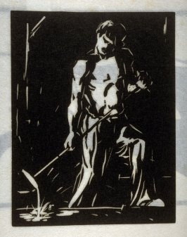 Iron Moulder, second plate in the book Block Prints (Los Angeles: privately printed, 1932)
