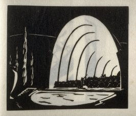 Hollywood Bowl, fifth plate in the book Block Prints (Los Angeles: privately printed, 1932)