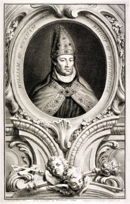 Portrait of William of Wyckham, Bishop of Winchester