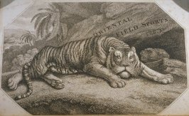 Tiger, Title page in the book, Oriental Field Sports … (London: Edward Orme and B. Crosby and Co., 1808), vol. 1