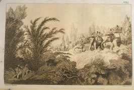 Driving a Tiger out of a Jungle, pl. 15 in the book, Oriental Field Sports … (London: Edward Orme and B. Crosby and Co., 1808), vol. 1