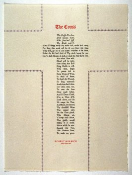 The Cross by Robert Herrick, plate 8 in the portfolio Shaped Poetry (San Francisco: Arion Press, 1981)