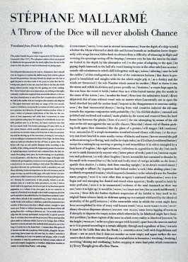 A Throw of the Dice by Stéphane Mallarmé,accompanied by separate sheet with translation by Anthony Hartley, plate 12 in the portfolio Shaped Poetry (San Francisco: Arion Press, 1981)