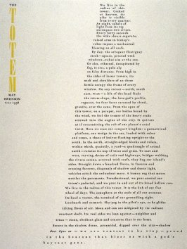 The Totem by May Swenson, plate 24 in the portfolio Shaped Poetry (San Francisco: Arion Press, 1981)