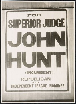 John Hunt for Superior Judge Billboard