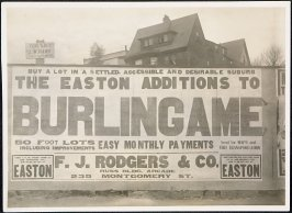 The Easton Additions to Burlingame Billboard