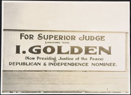 I. Golden for Superior Judge Billboard