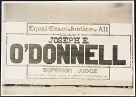 Elect Joseph E. O'Donnell Superior Judge Billboard