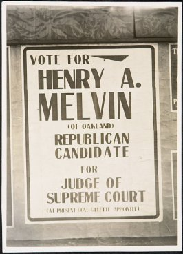 Vote for Henry A. Melvin, Judge Superior Court Billboard