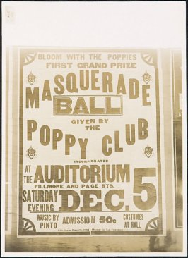 Poppy Club Masquerade Ball Billboard