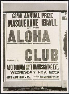Aloha Club Masquerade Ball Billboard