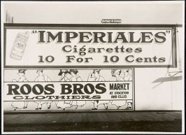 Roos Bros., Imperiales Cigarettes Billboard