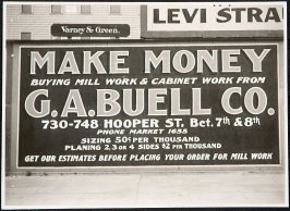 G.A. Buell Co. Mill Work Billboard