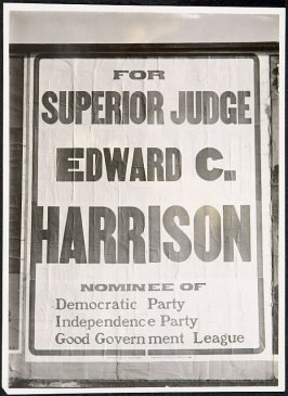 Ed C. Harrison for Superior Judge Billboard