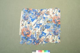 Printed silk fragment