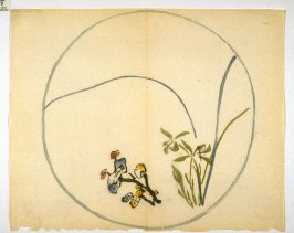 Orchid and Fungi, No.20 from the Volume on Round Fans - from: The Treatise on Calligraphy and Painting of the Ten Bamboo Studio