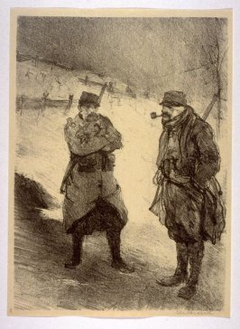 Trench in the Snow (Artois, Dec. 1914), number 8 from The War Sketches of Charles Huard
