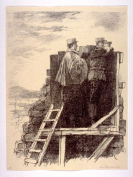 Observation Post near the Aisne (Jan. 1915), number 13 from The War Sketches of Charles Huard