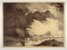 Refugees on the Road between Chateau-Thierry and Montmirail (Sept. 1914), number 2 from The War Sketches of Charles Huard