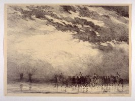 Prisoners in Flanders. Road to Ramscapelle (Nov. 1914), number 5 from The War Sketches of Charles Huard