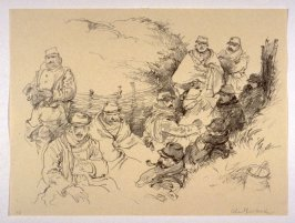 Dawn in the Trenches near Berry au Bac (Jan. 1915), number 14 from The War Sketches of Charles Huard