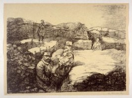 Second Line Trenches near Vic sur Aisne (Feb. 1915), number 17 from The War Sketches of Charles Huard