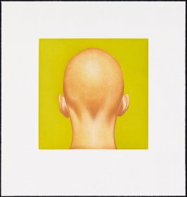 Untitled (Head with Chartreuse Background)