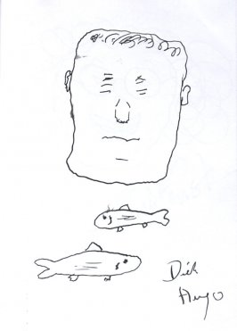 Dick Hugo (Self-portrait), Illustration 18 in the book Sketchbook (Sun Valley, Idaho)