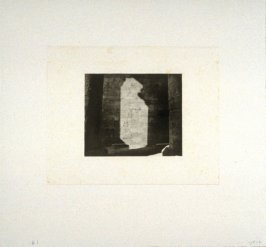 Working proof 9 for Photogravure 1 from the portfolio, Temple Ruins