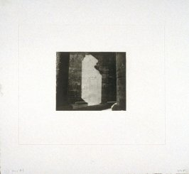 Working proof 5 for Photogravure 1 from the portfolio, Temple Ruins