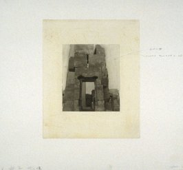 Working proof 5 for Photogravure 2 from the portfolio, Temple Ruins