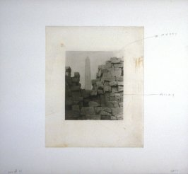 Working proof 5 for Photogravure 4 from the portfolio, Temple Ruins