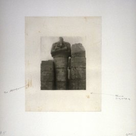 Working proof 5 for Photogravure 5 from the portfolio, Temple Ruins