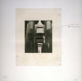 Working proof 2 for an unpublished photogravure from the portfolio, Temple Ruins