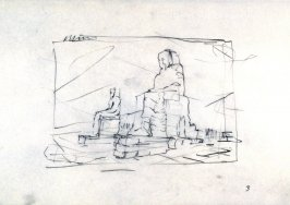 Drawing for Untitled Horizontal Memnon