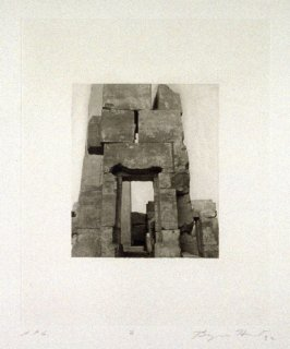 Photogravure 2 in the portfolio, Temple Ruins