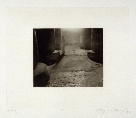 Photogravure 3 in the portfolio, Temple Ruins
