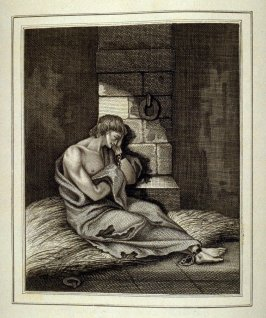 Untitled (a man chained in a prison cell), Page 274 of the book, Mon passe-tems dédié à moi-même, vol.1