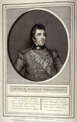 Arthur Marquis Wellington, opposite the title page of the book, Mon passe-tems dédié à moi-même (London: D. Huot, [ca. 1813]), vol.2