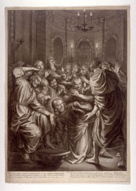 Christ Washing the Feet of the Apostles, plate 4 from The Passion of Christ