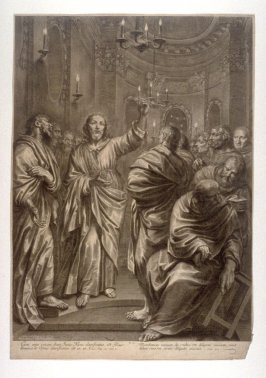 Christ Predicts Peter's Denial, plate 6 from The Passion of Christ