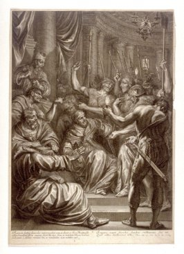 Christ Before Caiaphas, plate 10 from The Passion of Christ