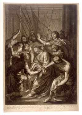 Christ Mistreated by Guards, plate 11 from The Passion of Christ