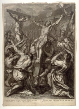 Christ Raised on the Cross, plate 19 from The Passion of Christ
