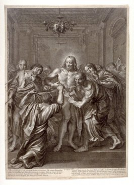 Doubting Thomas, plate 28 from The Passion of Christ