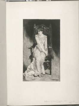 Desdemona, plate at p. 33 in the book, Representative Etchings by Artists of To-day in America (New York: Frederick A. Stokes, 1887)