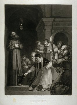 Saint Francis D'assise... ( St. Francis of Assisi )...nineteenth plate in the book... Le Musée royal (Paris: P. Didot, l'ainé, 1818), vol. 2